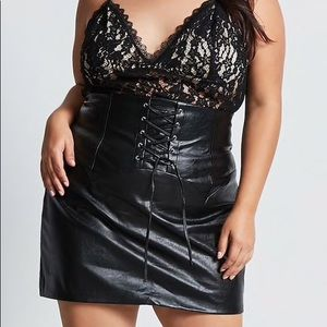Forever 21 Plus Size Corset-Detail Skirt